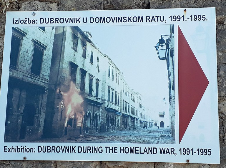 Exhibition in Dubrovnik on the war