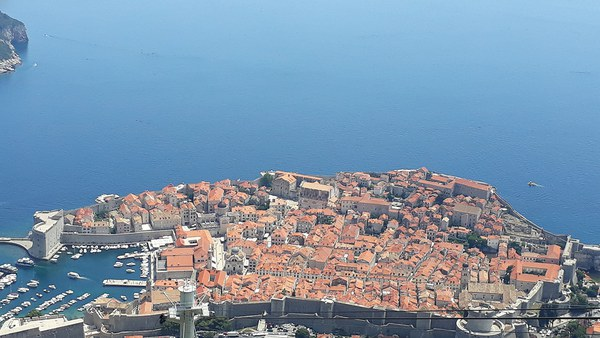 View of Dubrovnik from Serb positions
