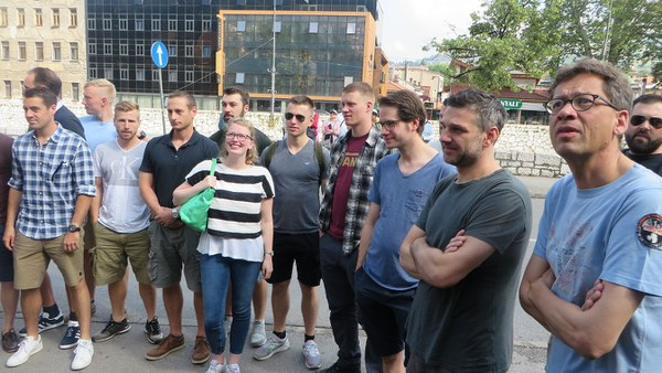 Guided tour to the site of the Sarajevo assassination of 1914
