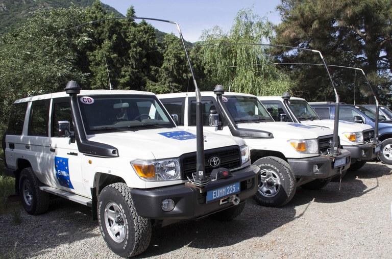 EU Monitoring Mission vehicles