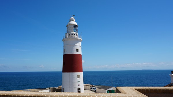Gibraltar lighthouse (with a view of Africa)