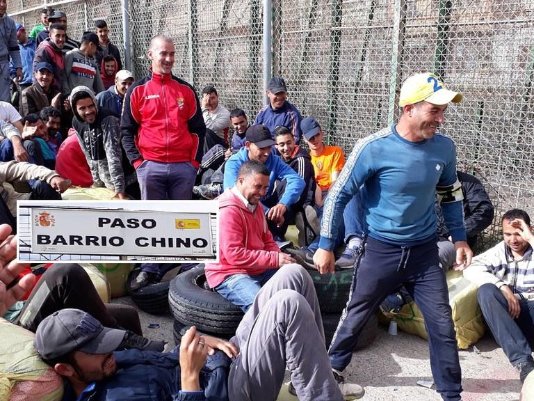 Melilla border crossing point