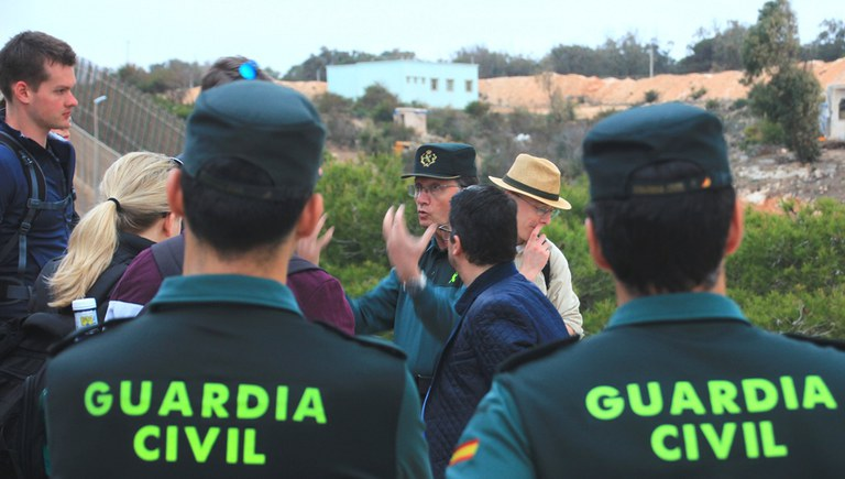 Guided tour by the Guardia Civil
