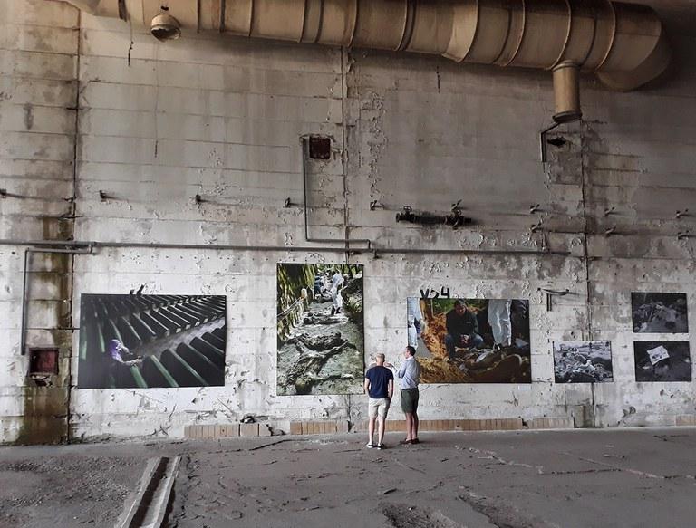 Ausstellung im Dutchbat Srebrenica 1