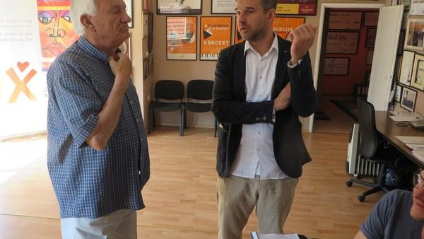 Diskussion mit Jovan Divjak, Bosnischer General