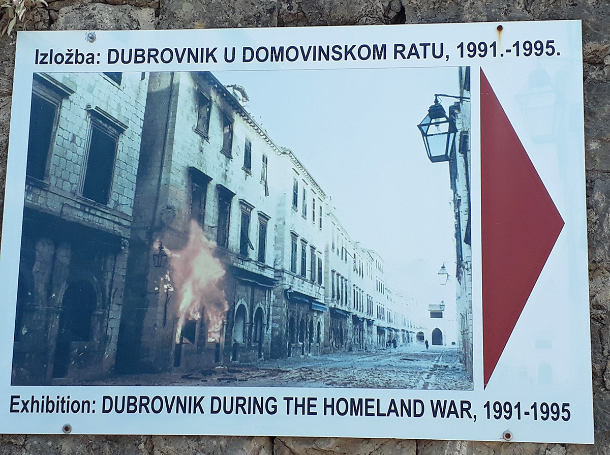 Ausstellung zum Kriegsverlauf in Dubrovnik