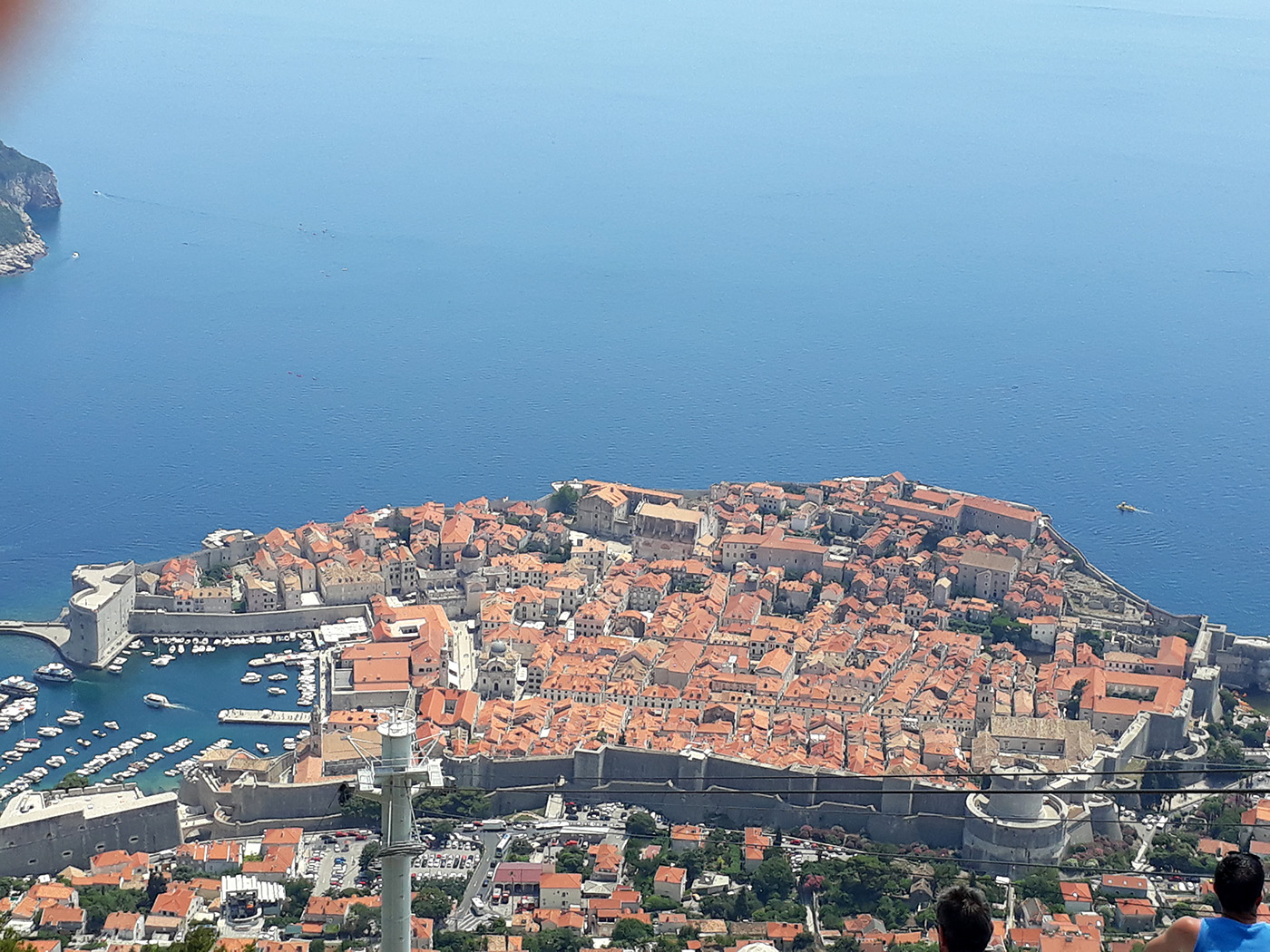 Blick auf Dubrovnik von den serbischen Stellungen