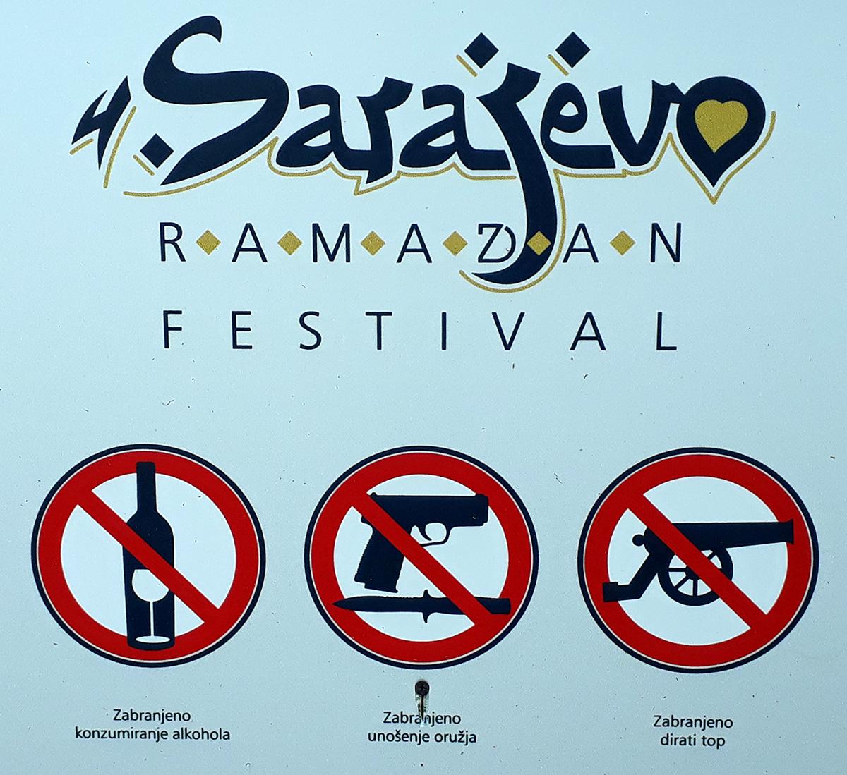 Ramadan Festival Ankündigung mit Humor