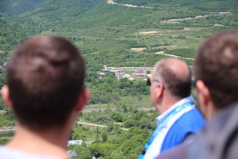 EU Monitoring Mission - Blick auf Südossetien