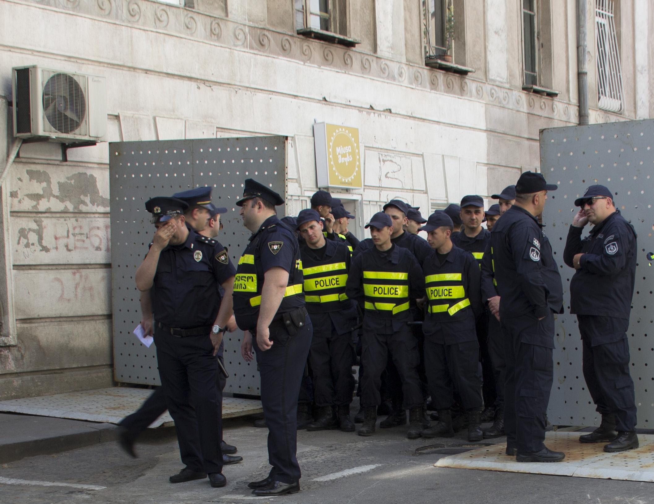 Vorbereitungen Demo Tiflis