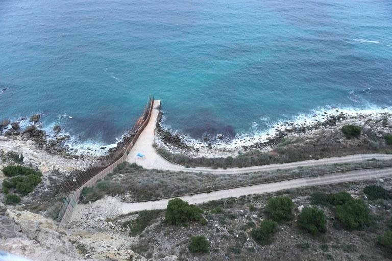 Grenzzaun Melilla Küste