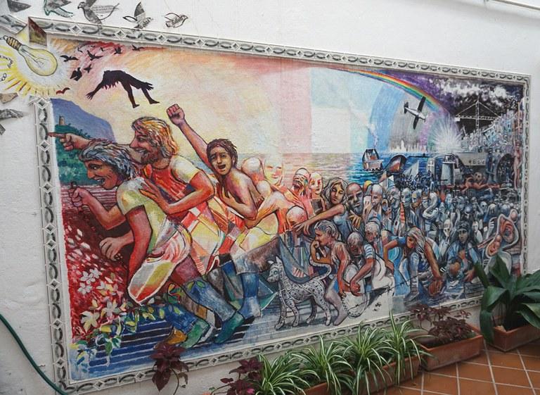 Wandgemälde Migration (Malaga)