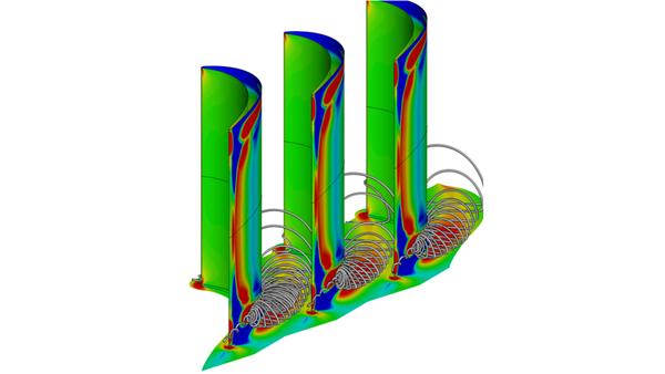 CFD-Simulationen von Verdichter- und Turbinenprofilen