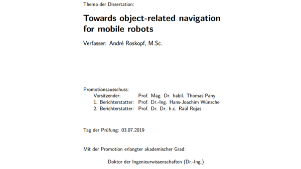 Towards object-related navigation for mobile robots