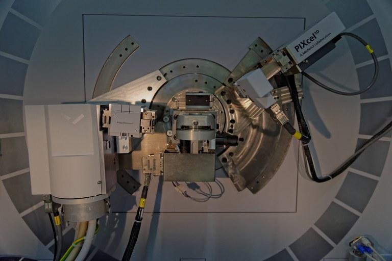 Detail des Röntgendiffraktometers